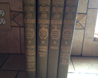1912 Modern Music and Musicians Classic Book Set