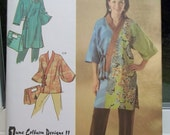 Simplicity 4134 Sewing Pattern Misses' Loose Fit Kimono, Wrap Front with Tie Closure, Wide Sleeves, Fashion Purse or Bag Size 14 - 26 UNCUT