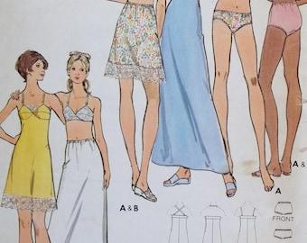 Misses' Vintage Lingerie Butterick 6948  Sewing Pattern, Bra, Bikini or Brief Underwear, Long or Short Petticoat, Bra-Slip Size 18 Bust 40