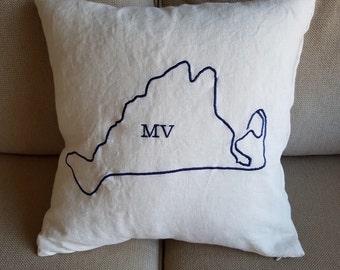Martha's Vineyard Map Pillow Cover