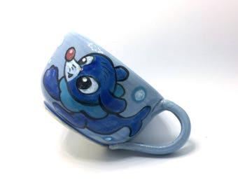 Popplio Pokemon Pottery Teacup