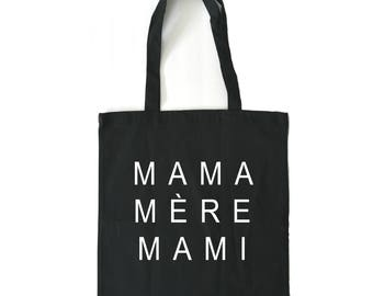 mothers day, tote bag, black tote bag, canvas tote bag, mothers day gift, gifts for mom, gift for mom, gift for mother