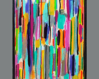 Colorful Painting, Acrylic Painting , Abstract Art, Stripes