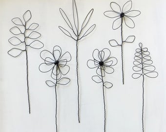 Wire Flowers, Bouquet, Floral Arrangement
