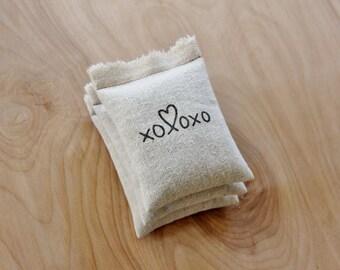 Rustic Bridal Shower Favors, Scent Sachet Lavender Bags, XOXO Wedding Favors