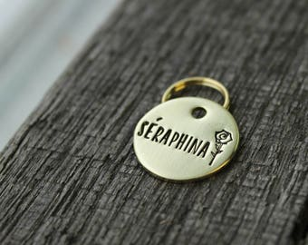 Dog or cat ID tag - Hand stamped