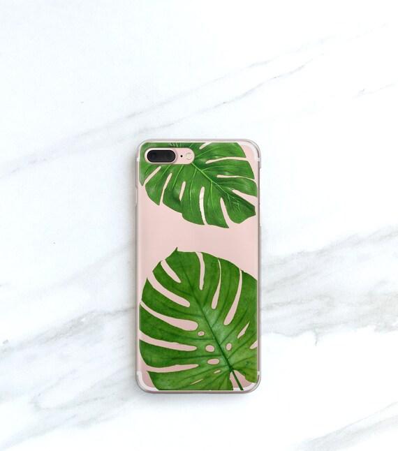 Jumbo Tropical Leaf Clear Case