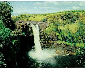 Vintage Hawaii Postcard - Rainbow Falls (Unused)