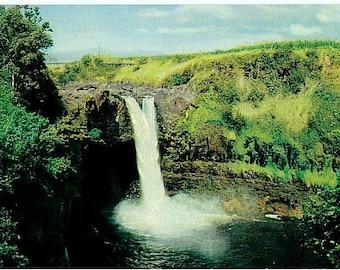 Vintage Hawaii Postcard - Rainbow Falls (Unused)
