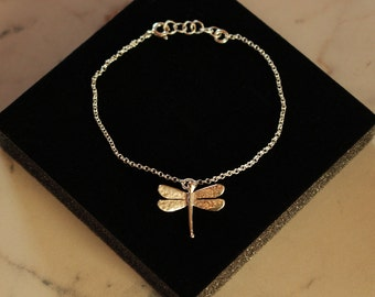 LIBELLE - silver bracelet with handmade dragonfly