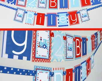 Train Birthday Party Banner   Train Party Decorations   Fully Assembled   Red White Blue Train Birthday   Train Decorations   Choo Choo
