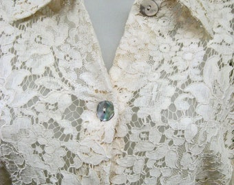 LACE blouse shirt in Antique Cream by Jospeh Janard