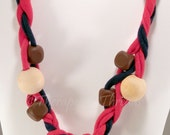 Sensory Jewelry size Small Red and Black with added beads