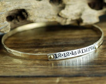 Personalized Bangle Bracelet, Mothers Bracelet, Friendship Bracelets, Stackable Cuff Bracelets, Personalized Bangle Bracelet, Gift for Mom