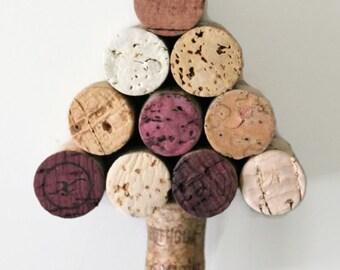 wine cork ornament - wine cork Christmas tree ornament - rustic Christmas ornament - Christmas ornament - cork Christmas tree - wine cork