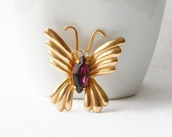 Vintage Coro Butterfly Brooch, Vintage Butterfly Jewelry, Vintage Coro Brooch