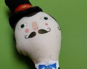 Handmade Art Doll- Ringmaster- Circus Performer- Vintage Inspired