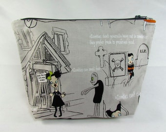 POUCH- Zombies in Town **handmade**