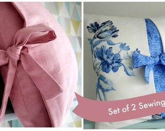 Set of Two Lillyblossom Pillow Patterns
