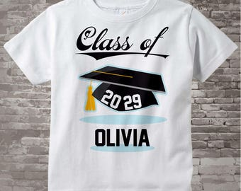 Class of 2029 Future Graduate Shirt, Personalized Graduation Shirt Future Graduation Shirt any year Child's Back To School Shirt 05022017a