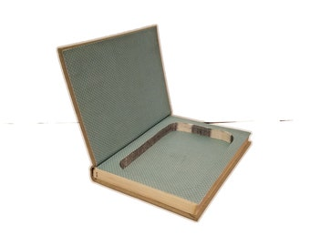 Hollow Book Safe Lady Killer vintage cloth bound book secret compartment best man wedding gift