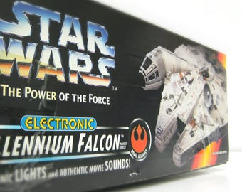 Millennium Falcon Star Wars Spaceship in Unopened Box - 1995 Vintage Kenner Star Wars Toy, Han Solo's Ship, Gift for Men, Fathers Day Gift,