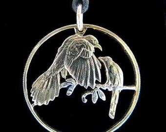 Cut Coin Jewelry - Pendant - British Virgin Islands - Mangrove Cuckoo