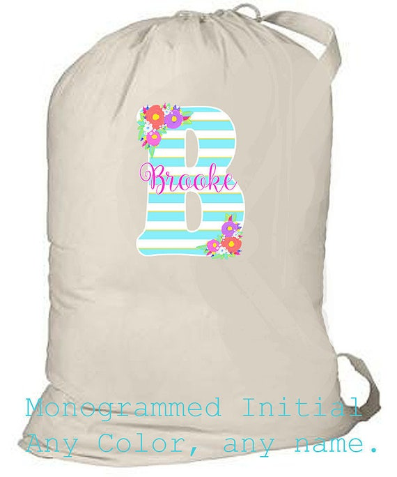College Laundry Bag, Personalized Laundry Bag, Grad Gift, Graduation Gift, Monogrammed Beach Bag, Large Overnight Bag, Summer Camp Bag,