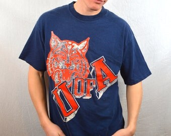 Vintage 80s  University of Arizona Tshirt Tee Shirt - Wildcats