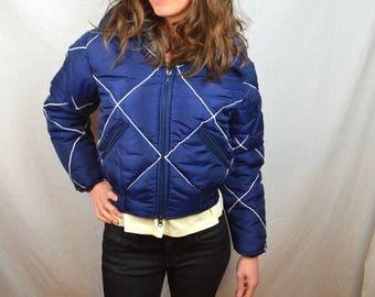 Vintage WOW Women's Ski Winter Slopes Snow Jacket Coat - Donner Designs