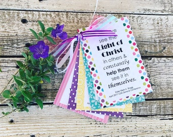 MAY 2017 LDS Visiting Teaching or Home Teaching Packet - Latter Day Saint Visit Teach or Home Teach Handout - Conference Edition