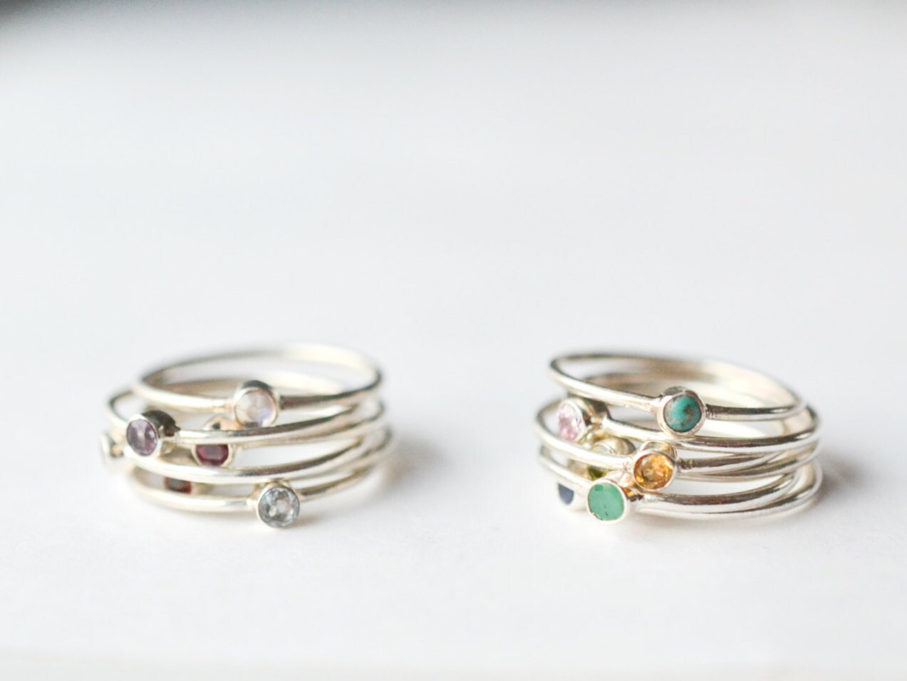 birthstone ring stackable christmas gift for mom mothers. Black Bedroom Furniture Sets. Home Design Ideas