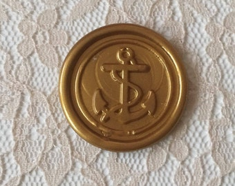 Anchor Peel and Stick Flexible Wax Seals, 1.2 Inches in Size with One Inch Adhesive