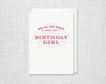 Letterpress Birthday Card - Birthday Girl
