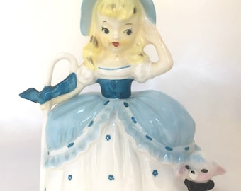 Vintage Napco Little Bo Peep ceramic Bank Figurine
