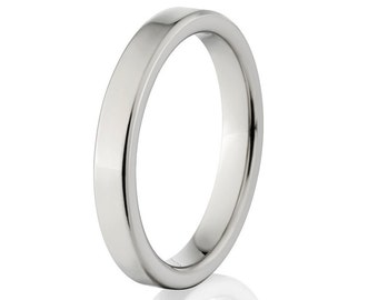 New 4mm Comfort Fit, Custom Titanium Ring, Free Sizing Band 4-17 4F-P