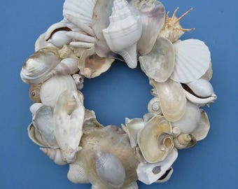 White Shell Wreath or Candle Ring-SW81