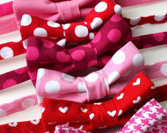 Little and Big Guy BOW TIE - Valentine's Day Lovey Dovey Collection- Pink and Red - (Newborn-Adult) - Baby Boy Toddler Teen Man