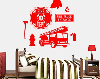 Firefighter Set - Nursery and Kid's Room Wall Decals