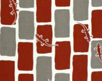 Japanese Tenugui Towel Cotton Fabric, Kawaii Gecko, Reptile Design, Hand Dyed Fabric, Modern Art Fabric, Home Decor, Wrapping, Scarf, a287