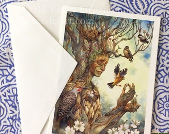 Children of the Forest Handmade Blank Greeting Card