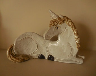 Pottery Unicorn by Aldon
