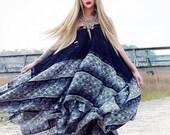 Plus Black maxi, Boho Gypsy soul dress, Free spirit Bohemian maxi sundress, Bohemian Beach dress, Hippie festival dress, True rebel clothing