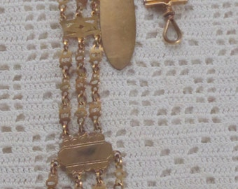 Vintage Chatelaine Gilt Metal Chains