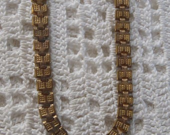 """Vintage Necklace Book Chain 18"""" Gold Filled Clasp"""
