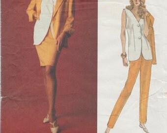 Vogue 1061 / Vintage Designer Sewing Pattern By Genny / Jacket Vest Pants Skirt Suit / Sizes 20 22 24