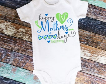 Personalized Happy 1st Mother's day shirt or bodysuit - perfect for Mother's Day, personalized with ANY name!