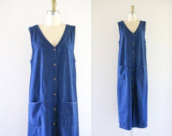 denim utility dress / duster