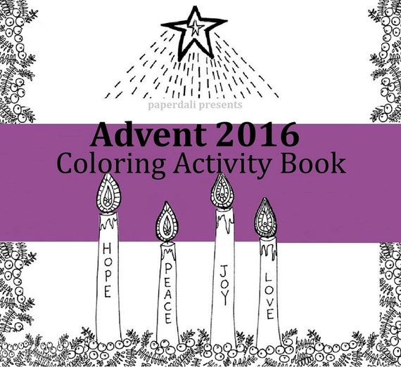Advent Coloring and Activity Book 2016 [Printable]