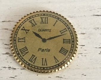 Miniature Quartz Paris Wall Clock, Dollhouse Miniature Accessory, 1:12 Scale, Dollhouse Decor, Mini Clock, Dollhouse Clock